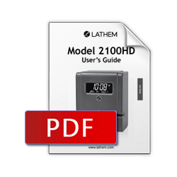 Lathem time clock manuals & guides for troubleshooting.