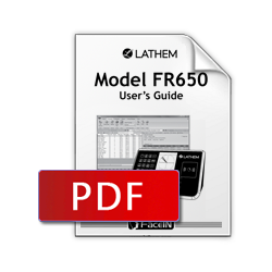 Lathem FR650 User Manual