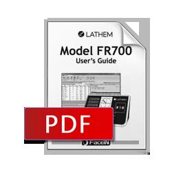 Lathem FR700 User Manual