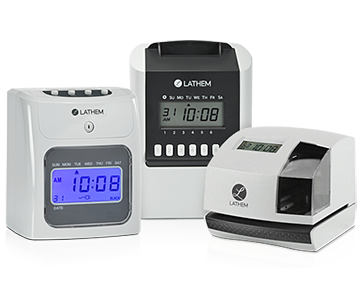 Lathem Launches New Line of Economically-Priced Electronic Time Clocks