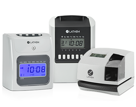 Electronic Employee Time Clocks and Document Stamp