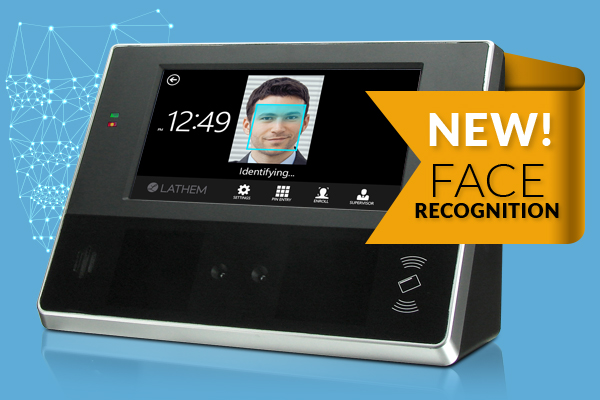 FaceIN CT74 face recognition biometric time clock
