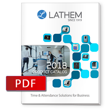 Lathem Time Clock Product Brochures Facein  Pc