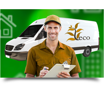 A delivery worker image used to demonstrate time clock system reviews and use cases