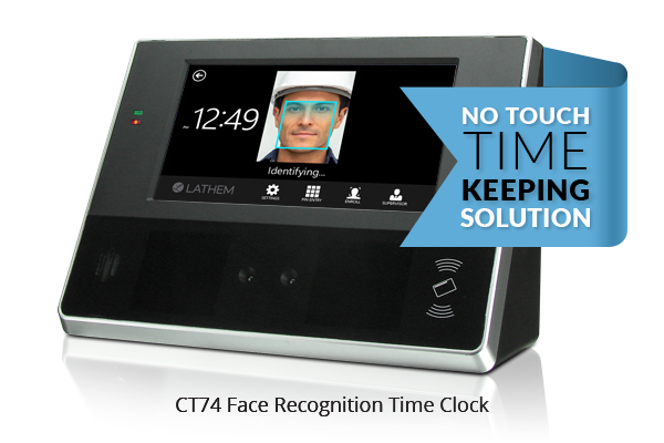 Touch free employee Face Recognition Time Clock System
