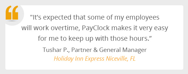 A testimonial from Holiday Inn Express