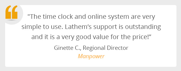 A testimonial from Manpower staffing