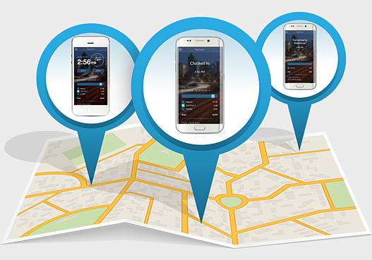 Lathem PayClock Online GPS Tracking Feature