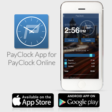Mobility for Employees & Supervisors from Lathem's PayClock Online
