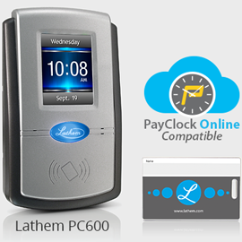 PayClock Online time clock software and PC600 employee time clock