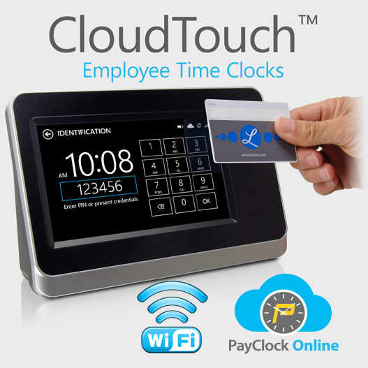 CloudTouch CT72 PayClock Online time clock