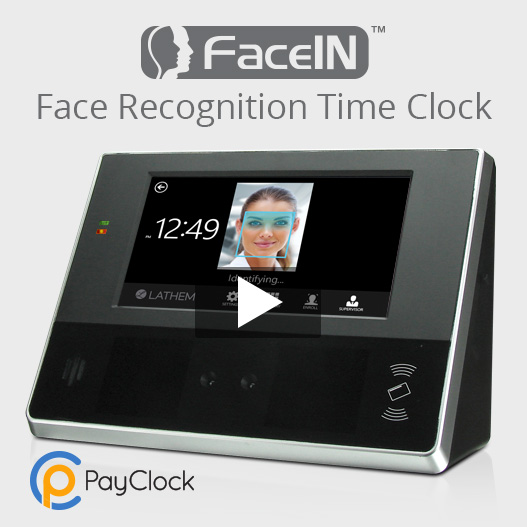 PayClock and Face Recognition Employee Time Clock
